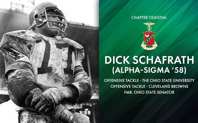 Football Legend Dick Schafrath Joins Chapter Celestial